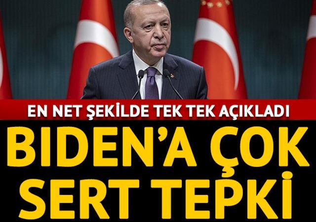 Cumhurbaşkanı Erdoğan'dan Biden'ın ifadelerine sert tepki