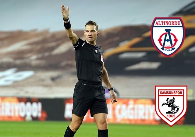 Altınordu - Samsunspor maçını Bahattin Şimşek yönetecek