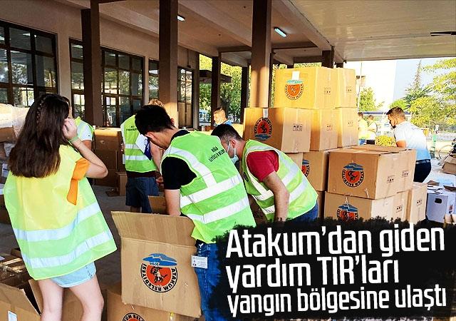 Atakum'dan giden yardım TIR'ları  yangın bölgesine ulaşt