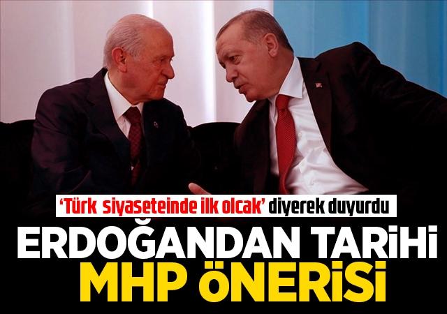 'Türk siyasi tarihinde ilk olacak' diyerek duyurdu!
