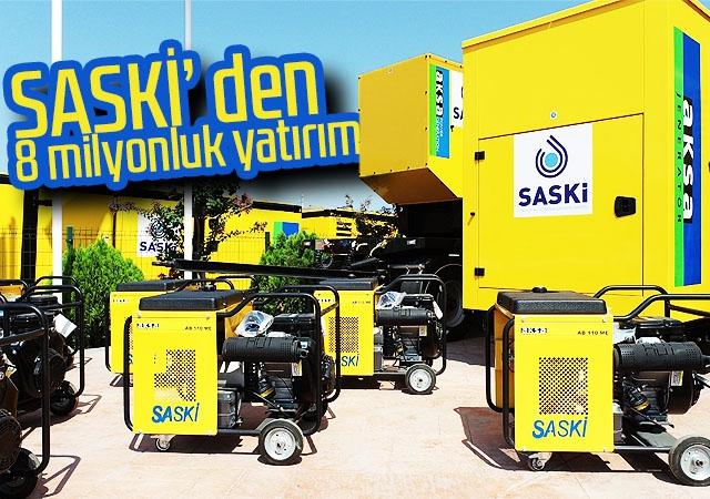 SASKİ' den 8 milyonluk yatırım