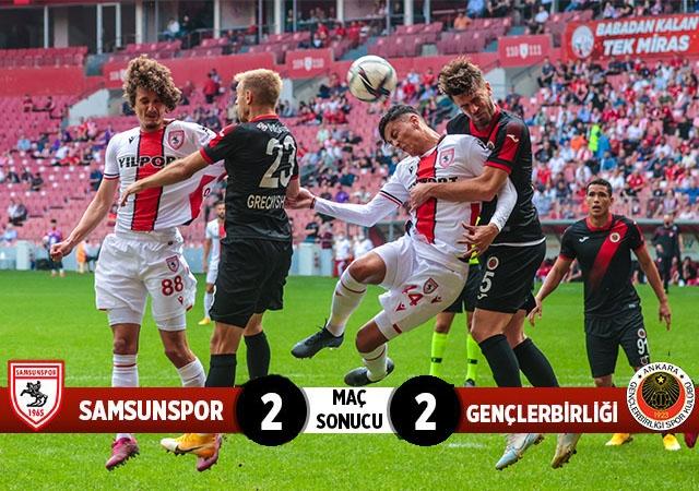 Yılport Samsunspor: 2 Gençlerbirliği: 2 (Maç sonucu)