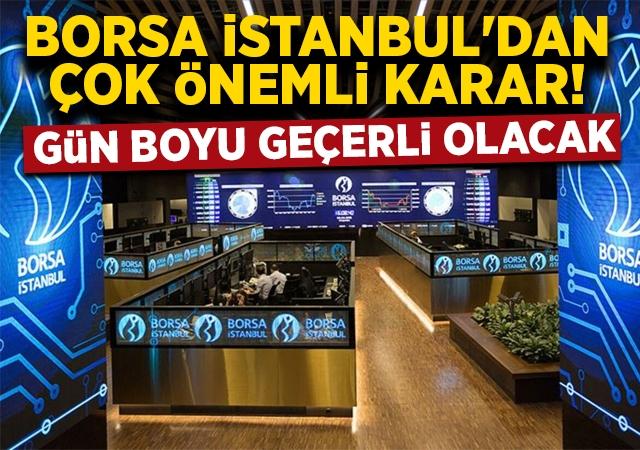 Borsa İstanbul'dan dikkat çeken açığa satış kararı!