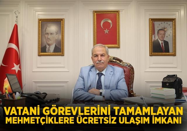 Başkan Demirtaş, Vatani Görevlerini Tamamlayan Mehmetçiklere Ücretsiz Ulaşım İmkanı Sundu