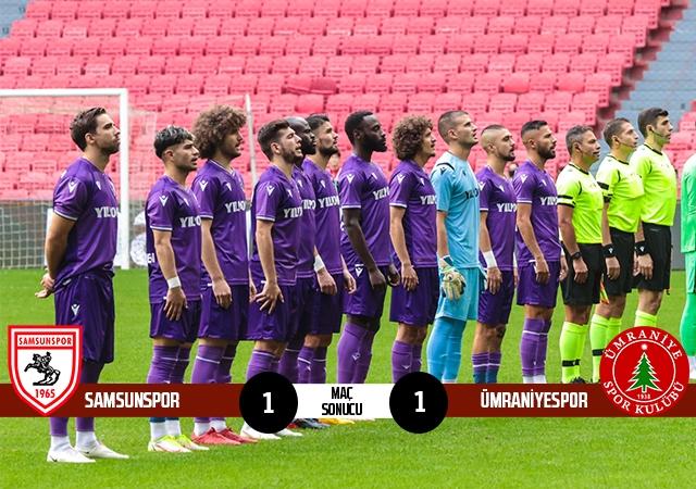 Yılport Samsunspor: 1 Ümraniyespor: 1 (Maç sonucu)