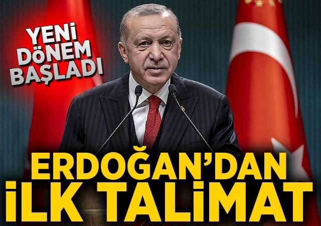 Cumhurbaşkanı Erdoğan'dan AK Parti'nin yeni kadrosuna ilk talimat