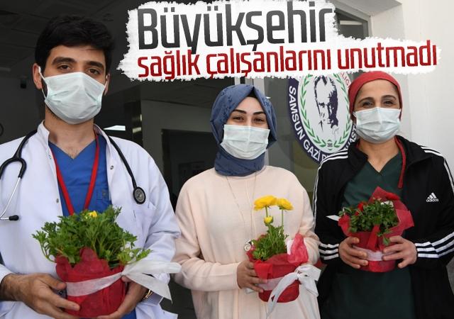 Büyükşehir sağlık çalışanlarını unutmadı