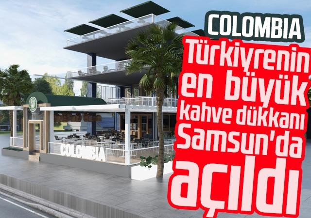 Türkiyenin en  büyük kahve dükkanı Samsun'da açıldı.