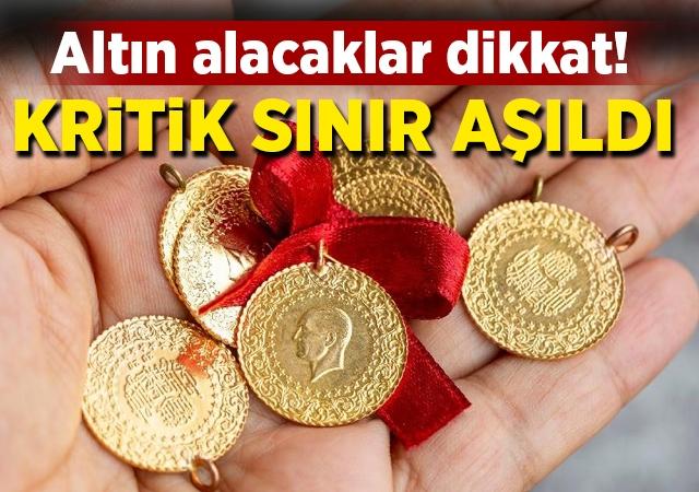 Altın alacaklar dikkat Kritik sınır aşıldı!