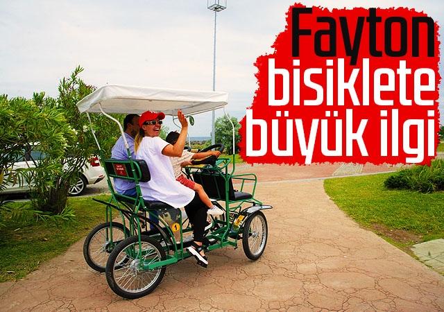 Fayton bisiklete büyük ilgi