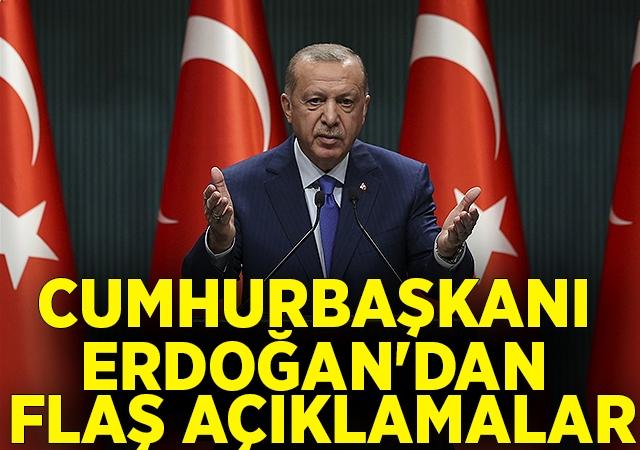 Son Dakika: Cumhurbaşkanı Erdoğan'dan Kabine toplantısı sonrası önemli açıklamalar