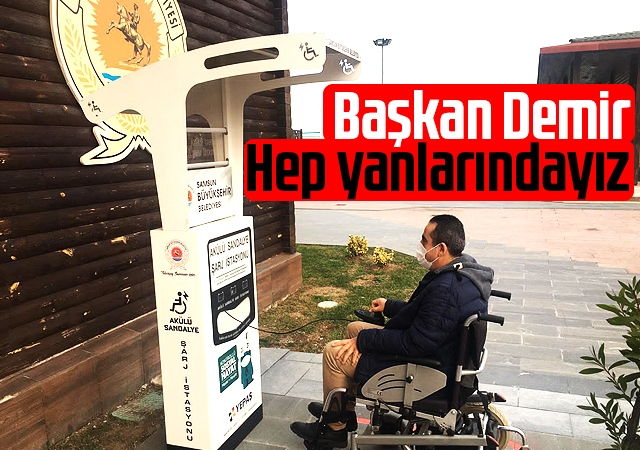 Büyükşehir engelli bireylerin akülü araçlarını ücretsiz şarj edecekleri istasyonlar kurdu