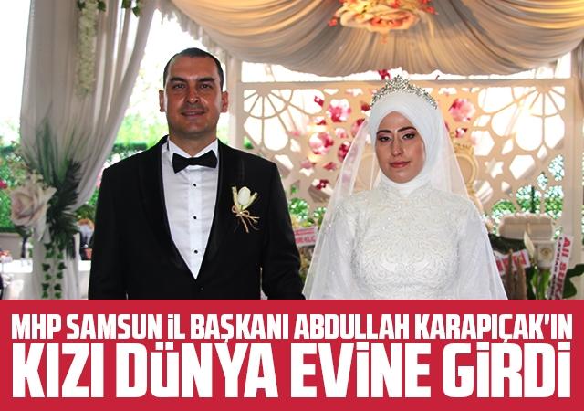 Mhp Samsun İl Başkanı Abdullah Karapıçak'ın Kızının Nikahı Kıyıldı